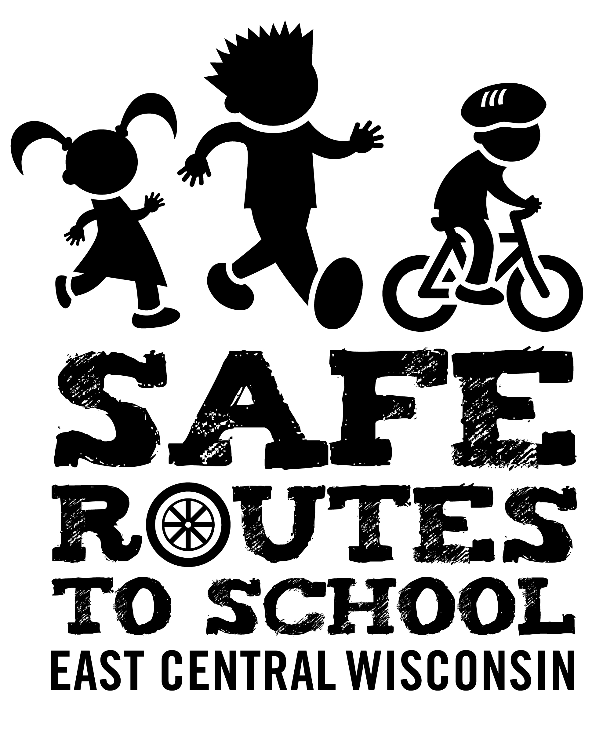 East Central SRTS Logo - Black and white